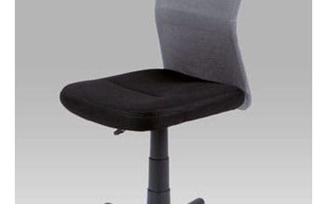 Kancelářská židle KA-BORIS GREY - látka MESH černá/látka MESH šedá