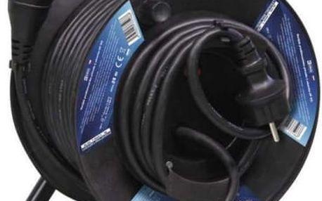 Kabel prodlužovací na bubnu EMOS 1x zásuvka, 25m (KF-FBGY-21 (E-057)) černý