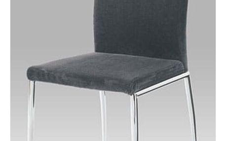 Jídelní židle B827 GREY2 - chrom/látka šedá