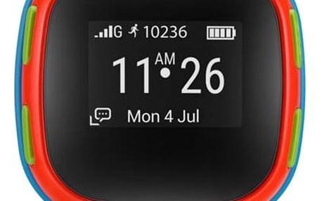 ALCATEL MOVETIME Track&Talk Watch dětské hodinky modré/červené