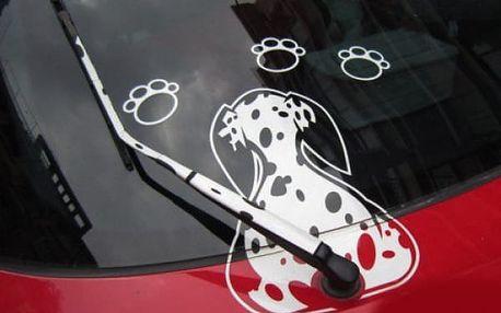 Samolepka na stěrač auta - Dalmatin - dodání do 2 dnů
