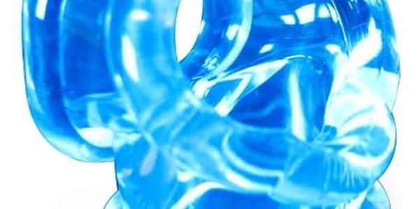 Oxballs Cocksling Ice Blue, návlek na penis a varlata – limitovaná edice