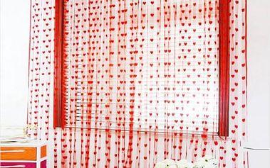 Romantický závěs se střapci 1 m x 2 m - 9 barev