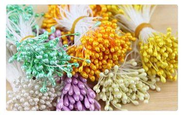 Svazek dekoračních pestíků - 8 barev