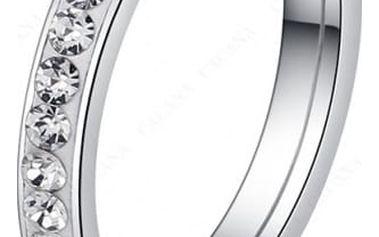 Ultratenký dámský prsten s kamínky
