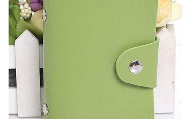 Kartičkový organizér s 24 sloty - 8 barev