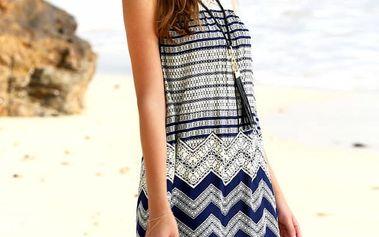 Dámské šaty na pláž - na zapínání