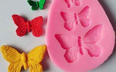 Silikonová motýlí formička