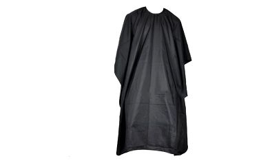 Kadeřnický plášť v černé barvě