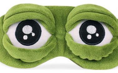Páska přes oči na spaní - žabí oči