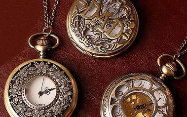 Vintage kapesní hodinky - motiv 05 - dodání do 2 dnů