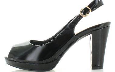 Černé sandály Narkina