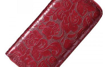 Dámská peněženka s květinovým reliéfem - 4 barvy
