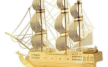 3D puzzle - Koráb ve zlaté barvě