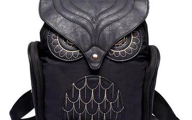 Stylový dámský batoh s motivem sovy - 4 barvy