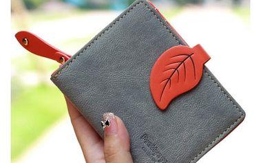 Dámská peněženka v elegantním designu a s motivem listu – různé barvy