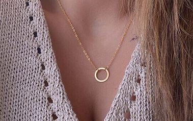 Jednoduchý řetízek s kroužkem ve zlaté barvě
