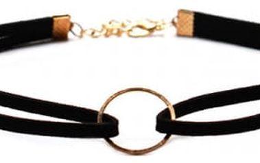 Sada černých obojkových náhrdelníků 6 ks
