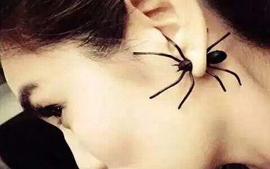 Náušnice s gigantickým pavoukem