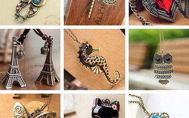 Vintage náhrdelníky v mnoha variantách