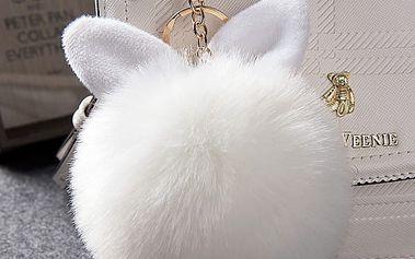 Plyšový přívěsek na kabelku s ouškama - různé barvy