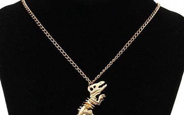 Řetízek s přívěskem kostry dinosaura - 2 barvy