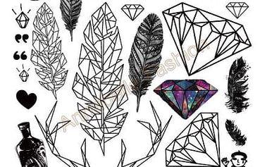 Dočasné tetování - více vzorů