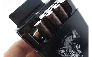 Luxusní pouzdro na cigarety - vlk