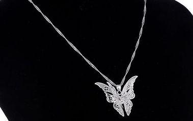 Dámský řetízek s 3D motýlem