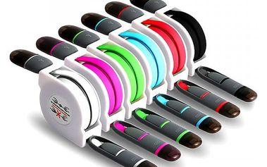 Micro USB samonavíjecí nabíječka pro iPhone 7/ 6/ 5 - více barev