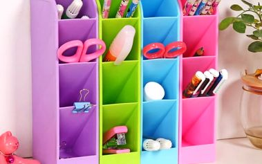 Plastový organizér do domácnosti i kanceláře - 2 barvy