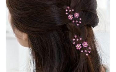 Ozdoba do vlasů s květinami 6 ks