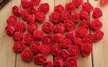 Umělé dekorační růže - 50 ks (více barev)