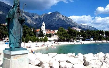 Chorvatsko - Baška Voda, víkendový zájezd z Blanska/Mikulova pro 1 os. za letním koupáním