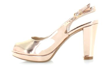 Růžovo-zlaté sandály Narkina