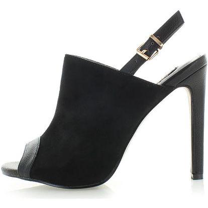 Černé sandály Tradia