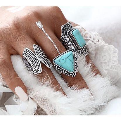 Originální masivní prsteny v boho stylu