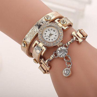 Dámské vícevrstvé hodinky s kamínky - 8 barev