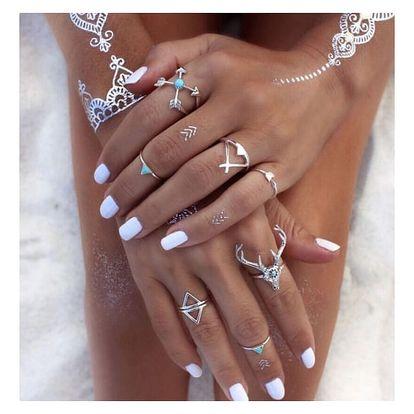 Sada dámských prstýnků ve stylu starých kultur - 2 varianty
