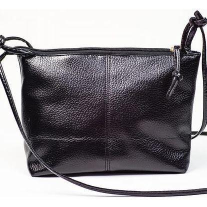 Kabelka přes rameno v klasickém stylu - černá barva