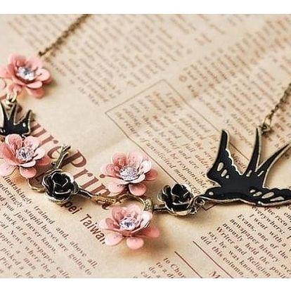 Vlaštovkový náhrdelník s růžemi!