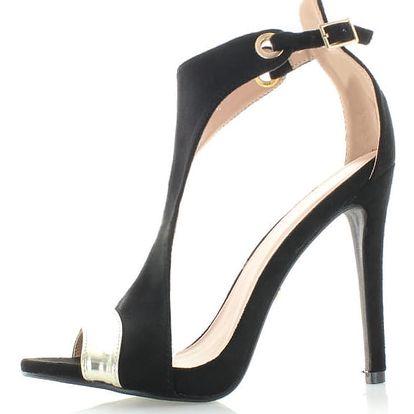 Černé sandály Tyra