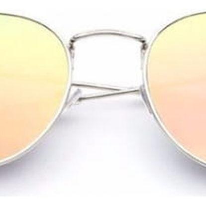 Designové kulaté sluneční brýle