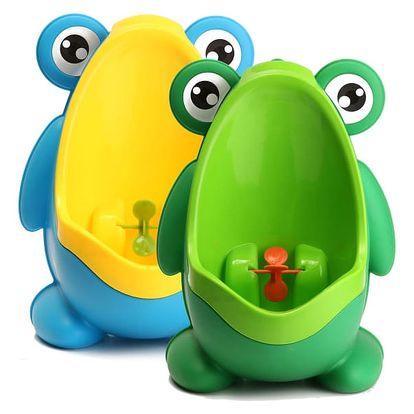 Dětský pisoár v podobě žabičky - 2 barvy