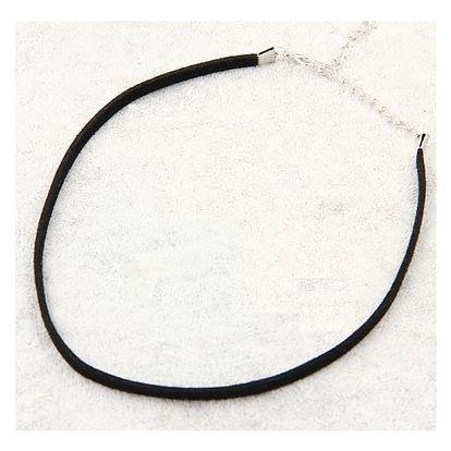 Jemný obojkový náhrdelník v černé barvě