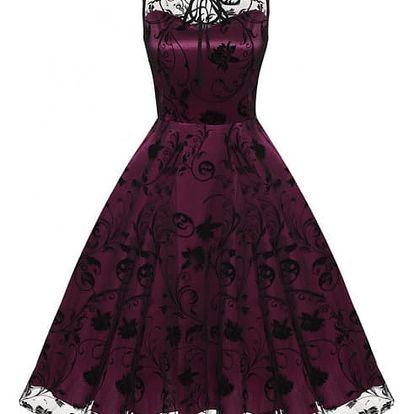 Dámské šaty v retro střihu - více barev a vzorů