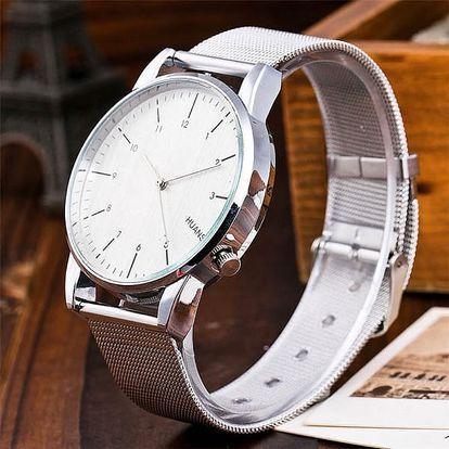 Ultratenké unisex hodinky s kovovým páskem - bílá - dodání do 2 dnů