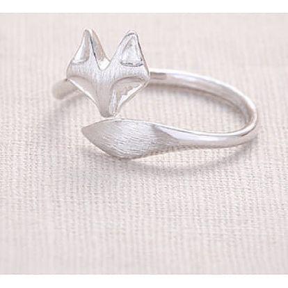 Jemný prstýnek s liškou