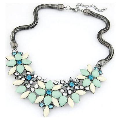 Dámský náhrdelník s květinami v něžném provedení