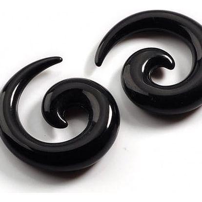 Roztahováky do ucha v podobě spirály - 7 barev